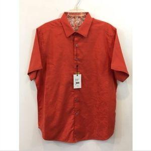 """NWT Robert Graham """"Blackgate"""" Button Shirt sz XL"""